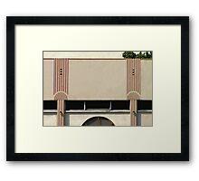 art deco façade Framed Print