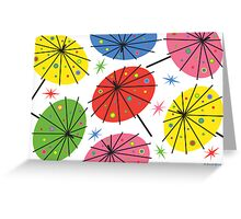 Parasols - card Greeting Card