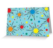 Retro Star - card Greeting Card