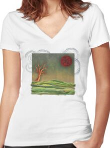Wake To Greet The Morning II Women's Fitted V-Neck T-Shirt