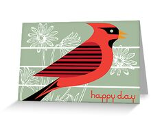 Red Bird Royale Card Greeting Card
