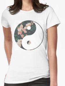 Pink Flower Zen Womens Fitted T-Shirt