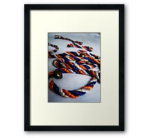 Coloured Rope & Golden Buttons Framed Print