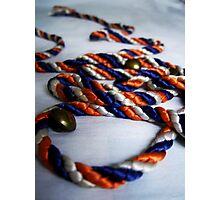 Coloured Rope & Golden Buttons Photographic Print