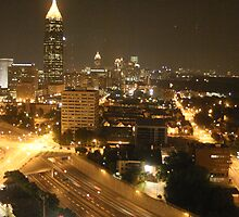 Downtown Atlanta By Night by paulco99