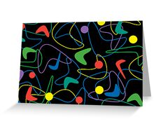 Boomerang Pattern - Card Greeting Card
