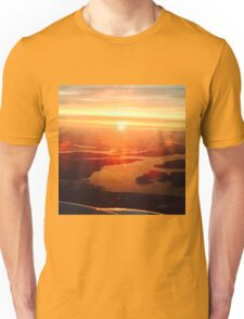 Flying High in Red and Gold Unisex T-Shirt