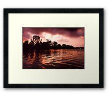 Copper Sunset on a Lake Framed Print