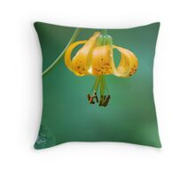 Wild Mountain Lily Throw Pillow