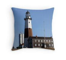 Montauk Lighthouse in Winter Throw Pillow