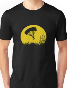 Parachuting down to earth.. Unisex T-Shirt