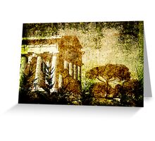 Grungy Temple Greeting Card
