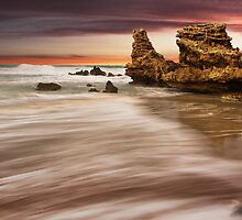 """Sunset Point"",Point Roadknight,Anglesea,Australia. by Darryl Fowler"