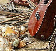 Uke at the Beach by Caroline Angell