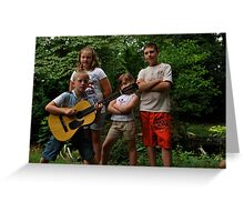 Young rock stars Greeting Card