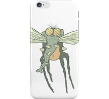 Illustration monster fly with long legs, wings and proboscis iPhone Case/Skin