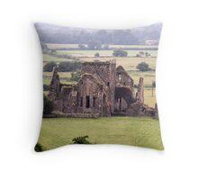 Manor Ruins Throw Pillow