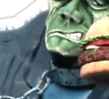 Buger Monster Sticker