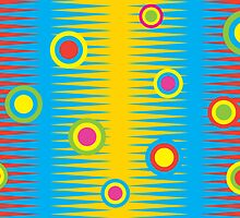 Rainbow Aztec - Card by Andi Bird