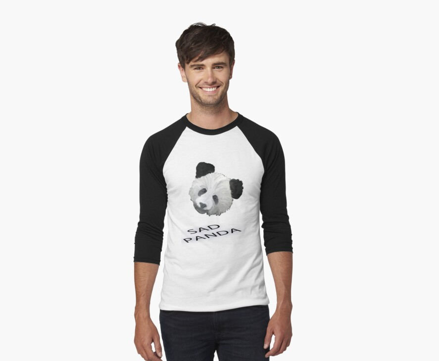 Sad Panda Tee, Sticker, Iphone Case by Corri Gryting Gutzman