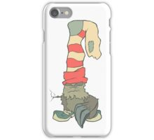 Vector illustration monster with a sock or stocking on his head iPhone Case/Skin
