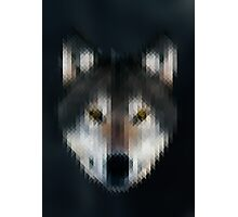 Pixelated Wolf Photographic Print