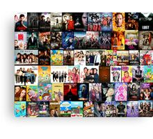 TV SHOWS COLLAGE Canvas Print