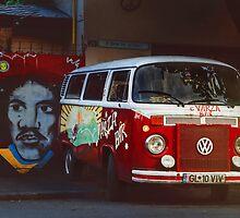 Hippie Red Bus by monicamarcov