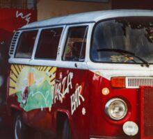 Hippie Red Bus Sticker