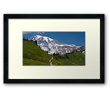 Mt. Rainier from the Alta Vista Trail, Paradise Framed Print