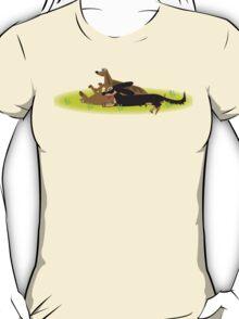 Three Sausage dogs T-Shirt
