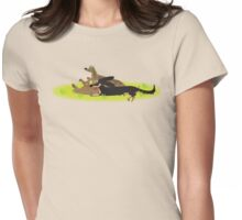 Three Sausage dogs Womens Fitted T-Shirt