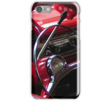 Symphony in Red vintage car iPhone Case/Skin