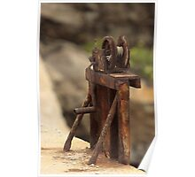 Out of Service! - A Weathered Rusty Pulley  Poster