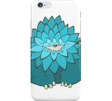 Cartoon blue thick monster with one eye. Hand drawing cyclops iPhone Case/Skin