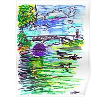 ALLEGHENY RIVER WITH DUCKS Poster