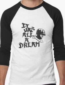 It Was All A Dream Black Men's Baseball ¾ T-Shirt