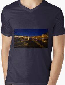 Bristol docks by night  Mens V-Neck T-Shirt