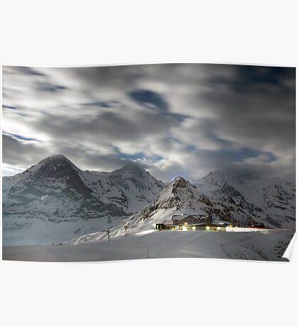 Männlichen at night, Switzerland Poster