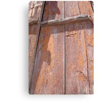 Shutters: The Visual Texture of Wood Canvas Print