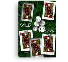 Wild Card Poster Canvas Print