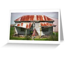 Dilapidated House, Gippsland Greeting Card