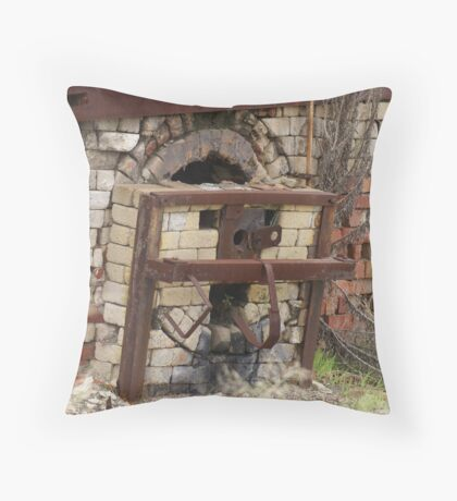 happy kiln door Throw Pillow