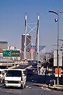 Nelson Mandela Bridge - From Braamfontein by RatManDude