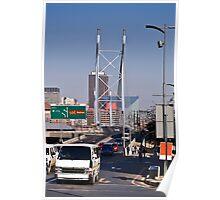 Nelson Mandela Bridge - From Braamfontein Poster