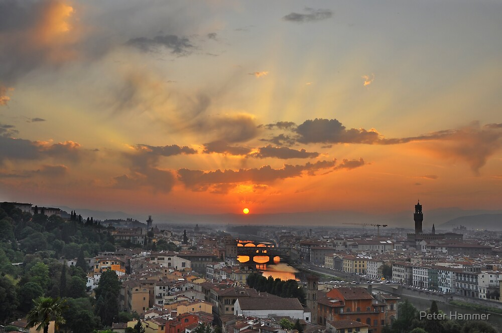 Florence Sunset by Peter Hammer