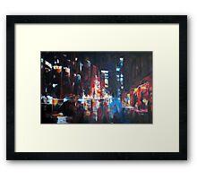 New York 2009. Abstract Skyline Painting Framed Print