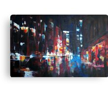 New York 2009. Abstract Skyline Painting Canvas Print