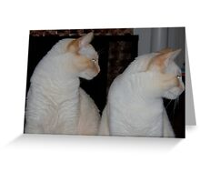 We Are Siamese If You Please Greeting Card