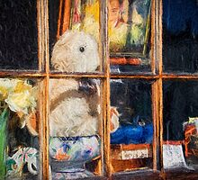 Teddy In The Window - Impressions by Susie Peek